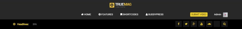 TrueMag-Layout 4-Center Logo