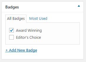 video post badge